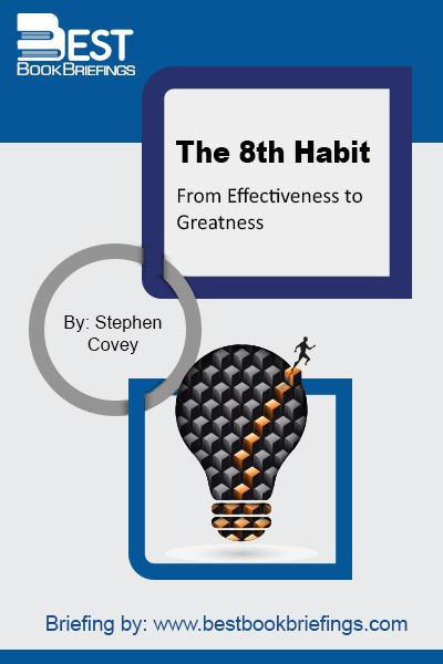 "The 8th Habit consists of a two-part solution; ""find your voice and inspire others to find theirs."" Finding your voice means to engage in the work that genuinely taps your talents and fuels your passion and discovers your most intimate capabilities. Your voice then becomes a metaphor representing the essence of"