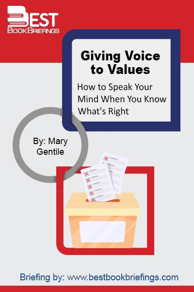 How can you effectively stand up for your values when pressured by your boss, customers, or shareholders to do the opposite? Drawing on actual business experiences as well as on social science research, Babson College business educator and consultant Mary Gentile challenges the assumptions about business ethics at companies and business