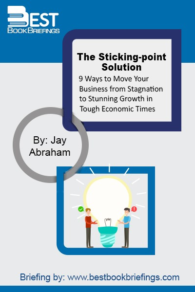 "The purpose of The Sticking Point Solution is to help entrepreneurs and executives recognize the ways in which their businesses may be stuck, and to then give them tools for getting unstuck and enjoying exponential growth. To achieve this, Jay will help you to identify the nine ""sticking points"" that keep"