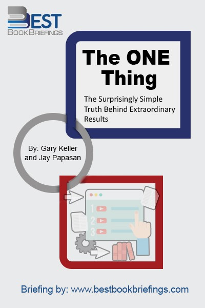 What's the ONE Thing you can do such that by doing it everything else will be easier or unnecessary? In the number one Wall Street Journal bestseller, Gary Keller has identified that behind every successful person is their ONE Thing. No matter how success is measured, personal or professional, only the