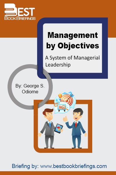 Management by objectives is the process of defining specific objectives within an organization that management can convey to organization members, then decide on how to achieve each objective in sequence. According to George S. Odiorne, the system of management by objectives can be described as a process whereby the superior and