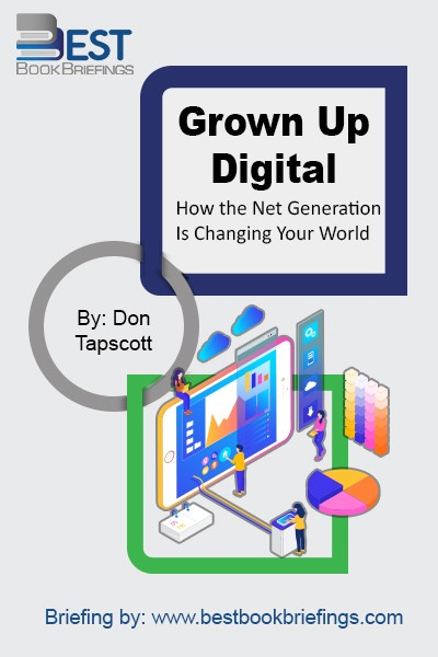 Grown Up Digital reveals: How the brain of the Net Generation processes information. Today's young people are using technology in ways you could never imagine. Instead of passively watching television, the Net Geners are actively participating in the distribution of entertainment and information. For the first time in history, youth are the