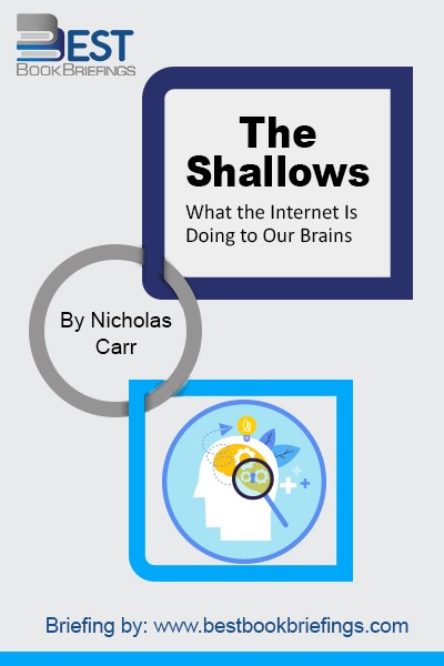 "With The Shallows, a finalist for the 2011 Pulitzer Prize in nonfiction and a New York Times bestseller, Carr expands his argument into the most compelling exploration of the net's intellectual and cultural consequences yet published. The Shallows is, writes Slate, ""a Silent Spring for the literary mind."""