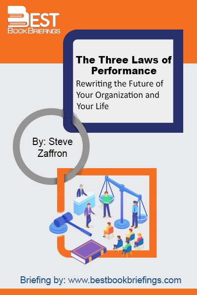 The Three Laws of Performance are about rewriting the future. Rewriting the future does not happen by positive motivational speeches or slogans that people repeat; it is about rewriting what people know will happen. Rewrite the future, and people's actions naturally will shift: from disengaged to proactive, from frustrated to inspired,