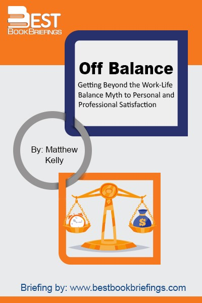This book is discussing the term: work-life balance, one of the major issues plaguing human potential in the corporate world today. The term was first introduced twenty years ago and is likely to go down as one of the great corporate blunders of our time. The future of an organization and