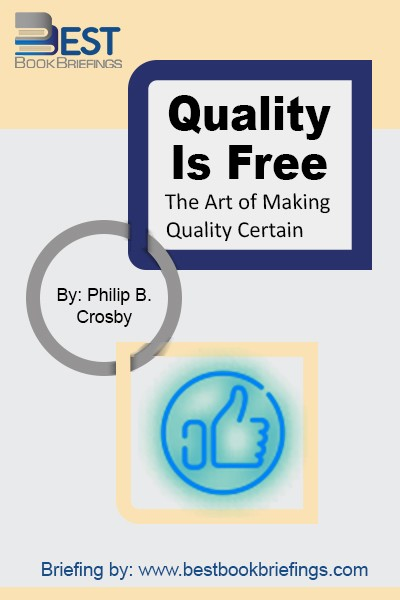 Do things right in the first place, and you won't have to pay to fix them or do them over. Whether you manage a large plant or run your own small business, applying this simple principle of quality control will boost your profits and your career.  Quality Is Free  sets forth