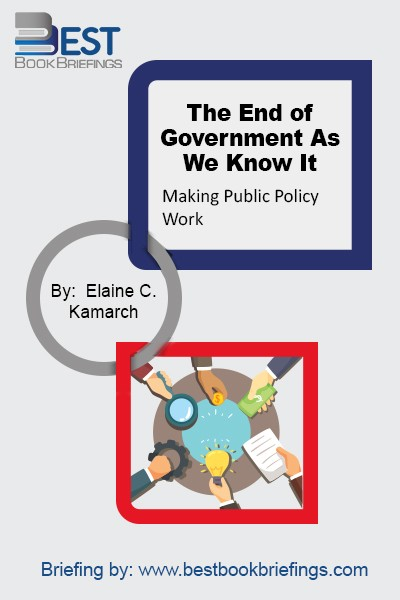 The End of Government examines how bureaucracy can be updated to deal with the quickly evolving demands of the twenty first century, and also uses real-world examples to help us understand how new alternatives can best be applied.