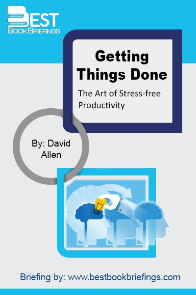 Getting Things Done inspires you to put all this into a new behavior set that will blow your mind. This is a vaccination against day-to-day fire-fighting, the so-called urgent and crisis demands of any given work, and an antidote for the imbalance many people bring upon themselves: that is how people