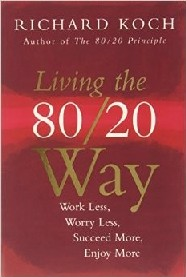 The 80/20 way involves a real change in how we see and do things. By doing less, we can enjoy and achieve more. If we understand the way the world is really organized, we can fit in with that way and get much more of what we care about with less