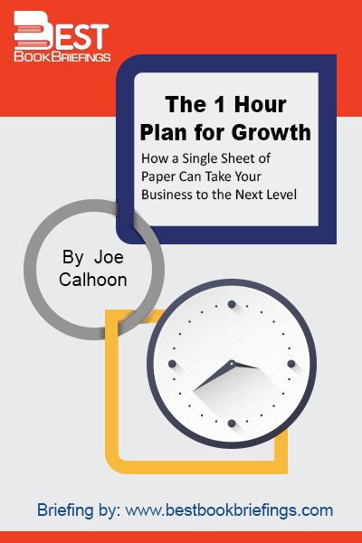 A companion to the 1Hour2Plan.com web tool, this book will take the mystery and drudgery out of creating your business growth plan. The 1 Hour Plan for Growth provides a proven system for any business to create a clear and compelling business growth plan that fits on a single sheet of