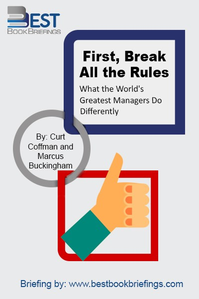 This New York Times bestseller (and the international bestseller) list for 93 weeks. Time Magazine listed the book as one of The 25 Most Influential Business Management Books. Based on in-depth interviews with more than 80,000 managers at all levels (and in companies of all sizes), the Gallup Organization's Buckingham and