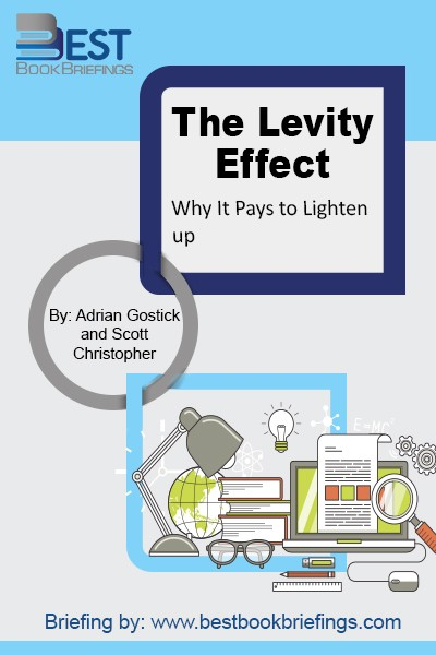 The Levity Effect is no laughing matter. It is a serious work of notification about the powerful influence of laughter and lightness on organizational performance and personal health. It proves the theory that you can work hard, reach impressive goals, and still have fun doing it. It is really a humorous,
