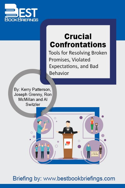A crucial confrontation consists of a face-to-face accountability discussion. Someone has disappointed you and you talk to him or her directly. All crucial confrontations start with the question: Why didn't you do what you were supposed to do? And they only end when a solution is reached and both parties are
