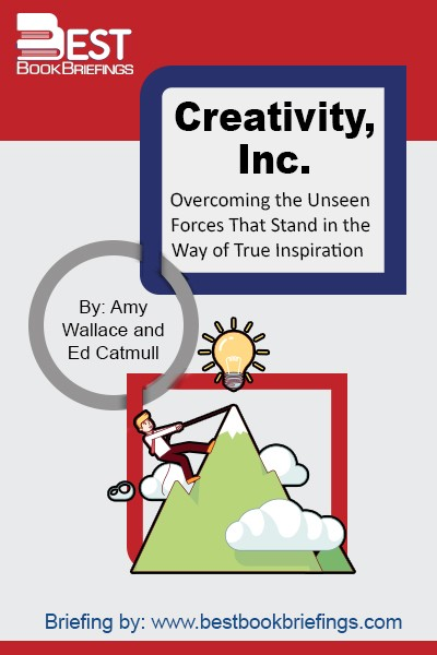 In this book is we know how to build a creative culture for managers who want to lead their employees to new levels of creativity, innovation, and originality. Creativity, Inc. is a trip into Pixar Animation.