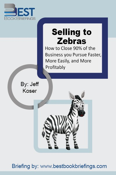 "Salespeople are like lions hunting for their prey; experienced lions do not waste their time and energy over many scattered opportunities. Rather, they focus on the prey that is worth their energy, such as zebras. Therefore, ""zebras"" are a metaphor for the ""right"" prospects because they are ""unique"" in the sense"