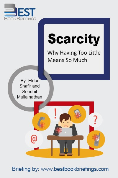 Mullainathan and Shafir discuss how scarcity affects our daily lives, recounting anecdotes of their own foibles and making surprising connections that bring this research alive. Their book provides a new way of understanding why the poor stay poor and the busy stay busy, and it reveals not only how scarcity leads