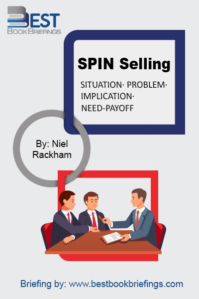 "In SPIN Selling, Rackham examines selling high-value product and services. By following the simple, practical, and easy-to-apply techniques of SPIN, you will be able to dramatically increase your sales volume from major accounts. Rackham answers key questions such as ""What makes success in major sales"" and ""Why do techniques like closing"