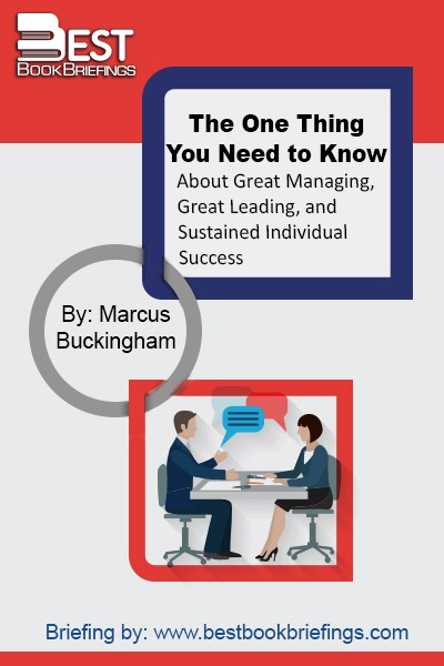 In The One Thing You Need to Know, Buckingham gives the readers an invaluable course in outstanding achievement—a guide to capturing the essence of the three areas fundamental to professional activity. Great management, great leading, and career success—he draws on a wealth of examples to reveal the single controlling insight that