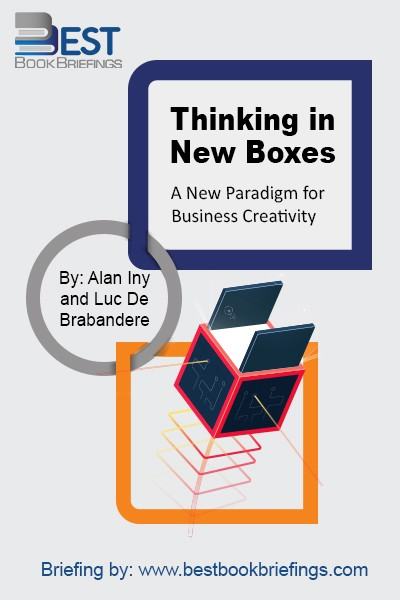 Thinking in New Boxes is about changing the way you think, or, more precisely, increasing your awareness of how we all create and use mental boxes. It is a new paradigm for creativity, by virtue of the focus on interplay between the broad new boxes and smaller ones that fill them.