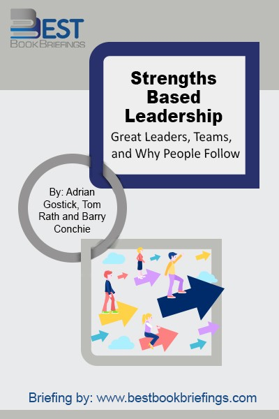 In Strengths Based Leadership, #1 New York Times bestselling author Tom Rath and renowned leadership consultant Barry Conchie reveal the results of their research. Based on their discoveries, the book identifies three keys to being a more effective leader: knowing your strengths and investing in others' strengths, getting people with the